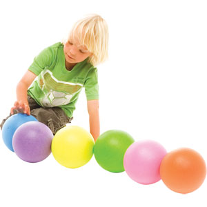 PLAYM8 Neon Coated Ball 6 Pack 16cm