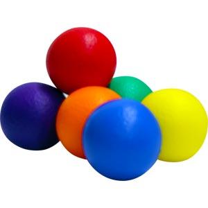 PLAYM8 Coated Foam Ball 6 Pack 7cm