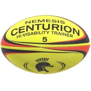 Centurion Nemesis Hi Visibility Training Rugby Ball
