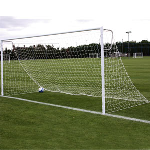 Harrod UK Socketed Heavyweight Steel Football Posts 16ft x 7ft
