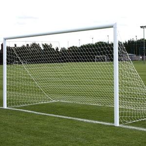 Harrod Sport 3G Lock Socketed Park Football Posts 16ft x 7ft