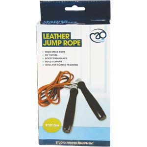 Fitness Mad Leather Boxers Skipping Rope
