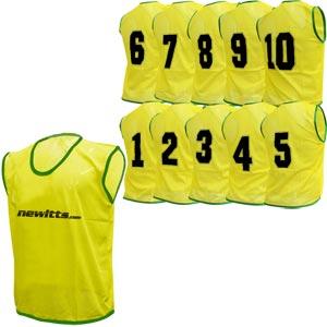 Numbered Training Bibs 1-10 Pack Yellow