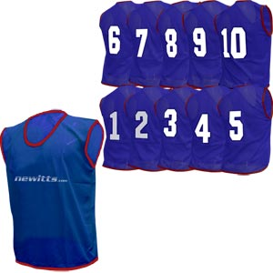 Newitts Numbered Training Bibs 1-10 Pack Navy