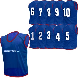 Numbered Training Bibs 1-10 Pack Navy
