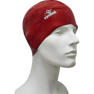 Eyeline Senior Latex Swimming Cap Red