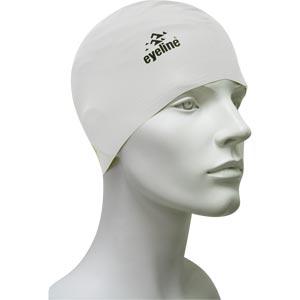 Eyeline Senior Latex Swimming Cap White