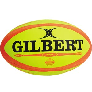 Gilbert Omega Match Rugby Ball Fluorescent