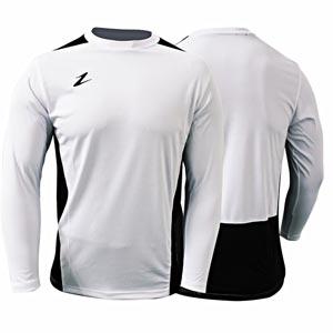 Ziland Team Long Sleeve Junior Football Shirt White/Black