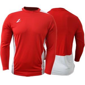 Ziland Team Long Sleeve Senior Football Shirt Red/White