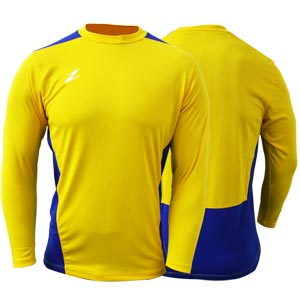 Ziland Team Long Sleeve Senior Football Shirt Yellow/Blue