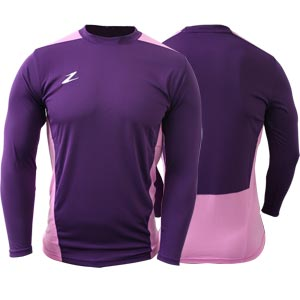 Ziland Team Long Sleeve Junior Football Shirt Purple/Pink