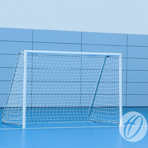Harrod Sports Floor Fixed Aluminium Football Posts 10ft x 7ft