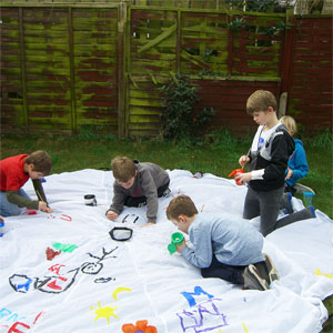 PLAYM8 Paint Your Own Play Parachute 3.5m