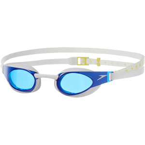Speedo Fastskin Elite Swimming Goggles White/Blue