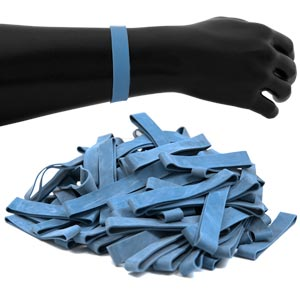 JPL Rubber Wristbands 100 Pack Blue