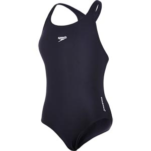 Speedo Girls Endurance+ Medalist Swimsuit Black