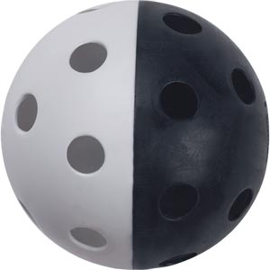 Unihoc Perforated Ball Black/White
