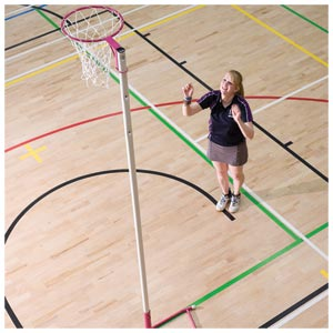 Harrod UK Wheelaway Netball Posts Pink