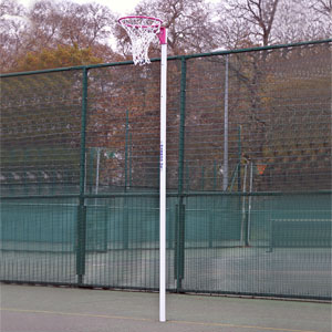 Harrod Sport Socketed Netball Posts Pink