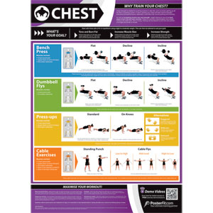 PosterFit Chest Exercise Poster