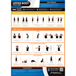 PosterFit Upper Body Stretching Poster