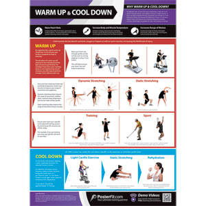 PosterFit Warm Up & Cool Down Poster