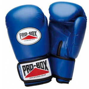 Pro Box Base Spar Senior Sparring Gloves Blue