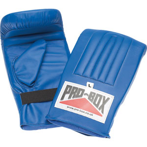 Pro Box Pre Shaped Punch Bag Mitts Blue Collection