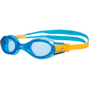 Speedo Junior Futura Biofuse Swimming Goggles Blue/Yellow