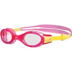 Speedo Junior Futura Biofuse Swimming Goggles Pink/Yellow