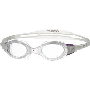 Speedo Futura Biofuse Female Swimming Goggles Clear/Purple