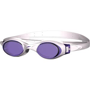 Speedo Rapide Swimming Goggles White/Purple