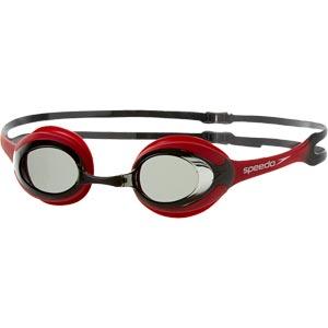 Speedo Merit Swimming Goggles Red/Smoke