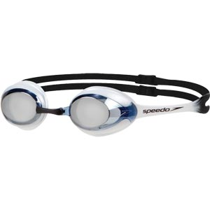 Speedo Merit Mirror Swimming Goggles White/New Surf