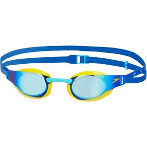 Speedo Junior Fastskin Elite Mirror Swimming Goggles Empire Yellow/Blue