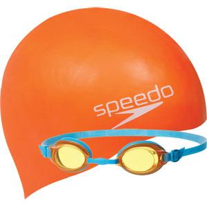 Speedo Jet Junior Silicone Swim Set Orange