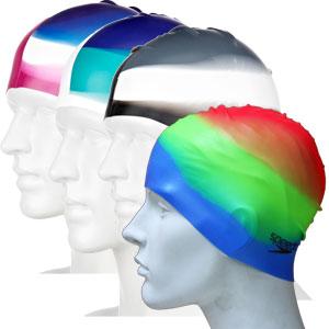 Speedo Multi Colour Senior Silicone Swimming Cap
