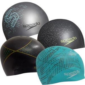 Speedo Monogram Reversible Senior Silicone Swimming Cap
