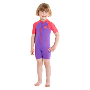 Speedo Girls Sea Squad Hot Tot Suit Purple/Pink