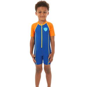 Speedo Boys Sea Squad Hot Tot Suit Blue/Orange