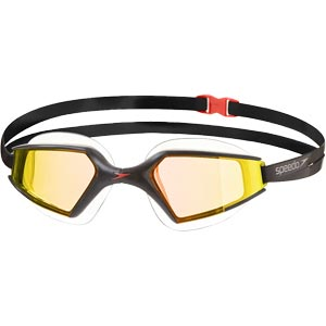 Speedo Aquapulse Max Mirror 2 Swimming Goggles Black/Orange Gold