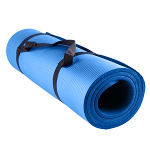Beemat Premium Thick Exercise Mat with Eyelets 180cm