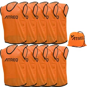 ATREQ Hi Vis Training Bibs 10 Pack Orange