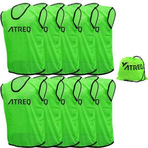 ATREQ Hi Vis Training Bibs 10 Pack Green