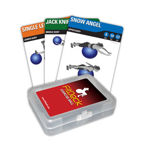 FitDeck Exercise Ball Card