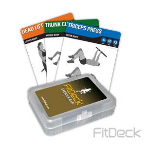 FitDeck Exercise Bar Cards