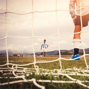 Ziland Standard Profile 5 a Side Football Goal Nets