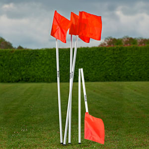 Mitre Folding Corner Poles and Flags Set