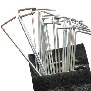 Mitre Metallic Goal Net Pegs 20 Pack